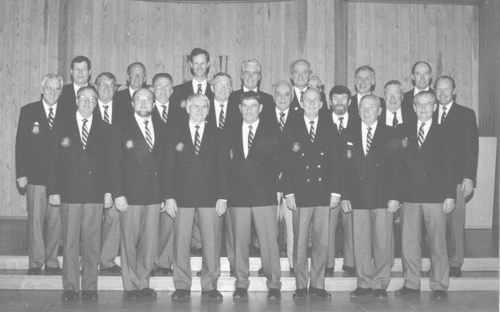 Exempel ur Trollhättans Föreningsarkiv - Sångsällskapet Harmoni - kören 1983
